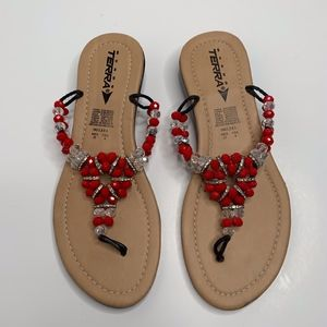 Women's Mexican Beaded Sandals size 7